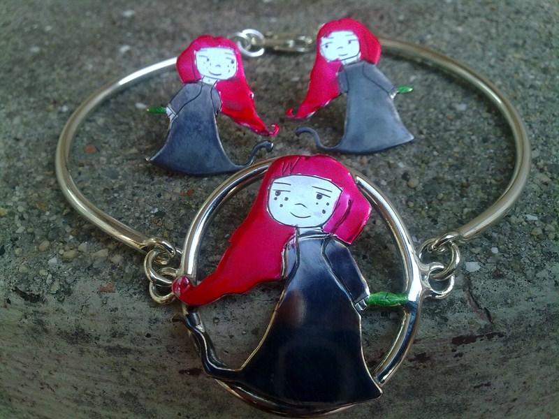conjunto collar anillo pulsera
