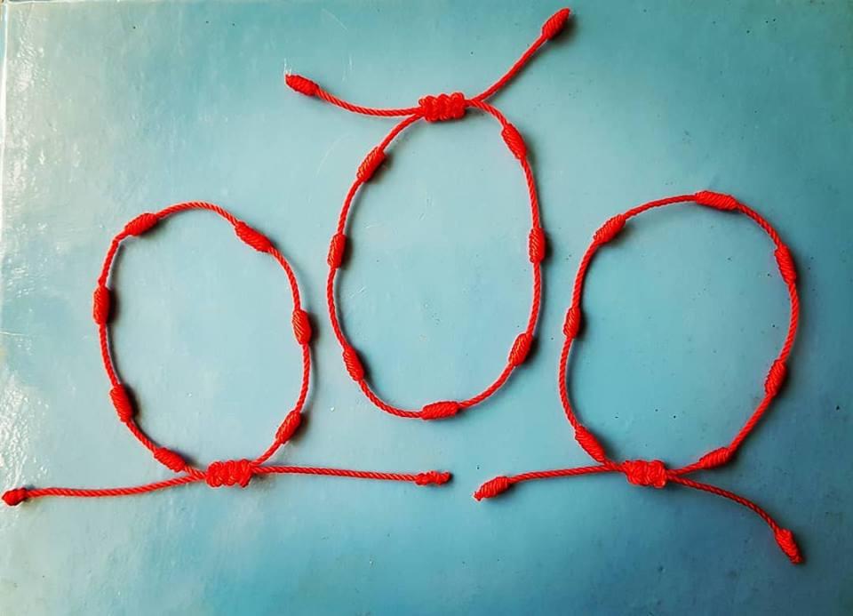 la mejor actitud 7b3a6 32cdb A Pulsera roja de 7 nudos